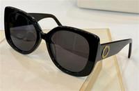 Yeni moda tasarım 4387 kare kalın levha çerçeve yuvarlak mercek klasik retro tarzı en kaliteli UV400 koruyucu gözlük güneş gözlüğü