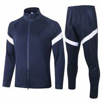 2020 FRANCIA completa zip giacca maglie calcio Suit Nazionale Mbappe Griezmann zaffiro bianco Tuta Football Kit Maglia Maglia piedi