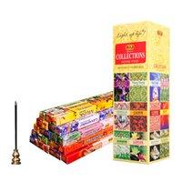 Lâmpadas fragrâncias misturadas cheiros incenso varas de atacado lotes vara de grande vara 8 varas / tubo aromas budistas para lareira