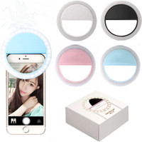 de carga del flash de la lámpara LED de relleno autofoto belleza del anillo exterior autofoto recargable luz para todo el teléfono móvil USB Fabricante