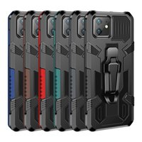 Shockproof Back Clip Hybrid Armor Cell Phone Case For iPhone 12 11 Pro XR XS Max SE 2020 X 6S 7 8 Plus Kickstand Magnetic Metal Plate Cover