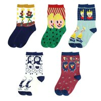 Coppia Cotton Socks Jumping Zucchero Creatiev del 2020 Cartoon Doll creativa Socks Unisex Moda Kawaii Serie Donne,