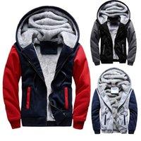 Männer Neue Hoodies Winter-starke warme Fleece Zipper Hoodies-Mantel Sportwear Male Street Sweatshirts Tops 4XL