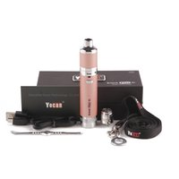100% аутентичные yocan Evolve Plus XL Vape Peen Starter Kits Wax DAB Peaporizer Pens Kit с батареей 1400 мАч и квадратный кварцевый комплект катушки