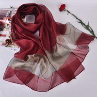 Sciarpe Scialli di seta di modo per le donne Elegante Sciarpa di Hijab Femmina 200 * 70cm Stole lunghe Spiaggia Scialle sciarpe Sciarpes Ladies Primavera
