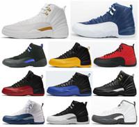 12 Üniversite Altın Taş Mavi Koyu Concord Ovo Beyaz Basketbol Ayakkabı Erkekler 12s Ters Grip oyunu Taksi Playoff Fransız Mavi Kiraz Sneakers