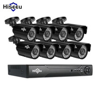 Systems Hiseeu 8CH CCTV 시스템 키트 AHD 1080P IR 비디오 감시 홈 보안 실내 / 실외 비바람안 카메라