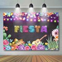 Hintergrund Material Mexikanischer Fiesta Kulisse Geburtstag Party Dekoration Blumen Mexiko TACO BOUT Banner Sommer Pool Strandbedarf