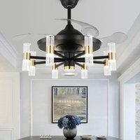 42 inch minimalist Ceiling ventilator lamp fan chandelier wi...