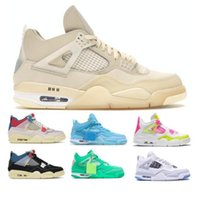 Union Off 4 4s Jumpman Mensbasketballschuhe Guava Ice Noir Creme Sail Green Lemon Venom Rosa Gs Nrg athletische Frauen Turnschuhe Turnschuhe