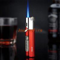 2020 Nouvelle flamme Jet Briquet coupe-vent fenêtre gaz Flint en métal léger gonflable Butane 1300 C cigarette allume-cigare hommes NO cadeau GAZ