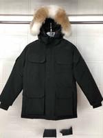Nueva Calidad Nueva Moda Moda Parka Impermeable Windstopper ¡Tela avanzada gruesa con el invierno de la piel del lobo real Mantenga la chaqueta caliente de la fábrica