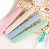 Accesorios de viaje Cepillo de dientes del tubo de cubierta de la caja de plástico casquillo de la manera Maleta titular embarque portátil Embalaje organizador GWB1843