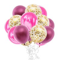 15pcs Agate Confetti Latex Balloon Sets For Wedding Birthday Party Decor