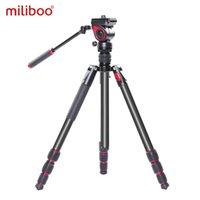 Tripods Miliboo Mufa Profissional Alumínio Portable T Camera Video Tripé com cabeça hidráulica