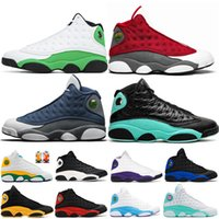 Red Flint 13 13s zapatos de baloncesto de los zapatos para mujer para hombre hiper real Lucky verde Zona de juegos CORTE PURPLE zapatillas de deporte los hombres 5,5-13