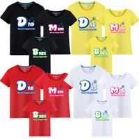 2019 Verão Matching Família camisa Outfits T Mom Dad Filho Filha Cotton T-shirt Família Mãe Pai caçoa camisetas roupas combinando