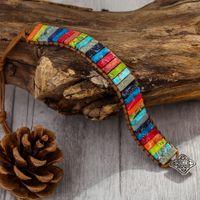 Boho Chakra Yoga Wrap браслет для женщин мужчин Рэйки Молитва исцеления Body Balance Этнический Imperial Jasper Тюбе бисером Strand Браслеты дружбы