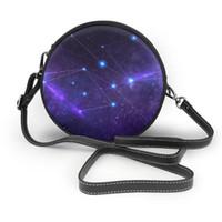 Messenger Ombro Bolsa de NOISYDESIGNS Constellation Circular Moda Shoulder Bag Mulheres senhoras Bolsa Feminino Rodada Handbag Bolsa