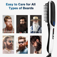 Portable Led Ion Mens Straightener Anti Display Beard Hair S...