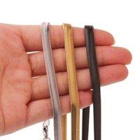 """Ketten 6mm Hohe Qualität Modeschmuck 316L Edelstahl Silber Farbe / Gold / Schwarz Flache Schlangenkette Männer Frauen Halskette 23.6 """"Geschenk"""