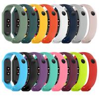 Pour Xiaomi MI Bande 5 Strap Strap Silicone Bracelet de remplacement Soft TPU Bracelet Bracelet Miband 6 NFC Bracelet de poignet 1000pcs / Lot