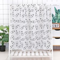 Baby Swaddle Bath Towels Muslin Newborn Blanket Wrap Cotton Bath Towels Air Condition Towel Cartoon Printed Swaddling Stroller Cover GWA6342