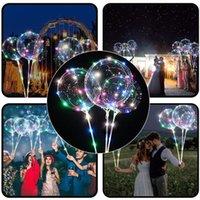 LED Ballon d'éclairage transparent BOBO balle ballons avec 70cm Pole bâton 3M chaîne Ballon de Noël Décoration de soirée de mariage