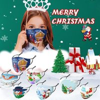 Popular Party Masks Christmas Masks Kids Xmas Mask Outdoor Anti Dust Face Cover Snowflake Christmas Mouth Washable Reusable Mask FY4229