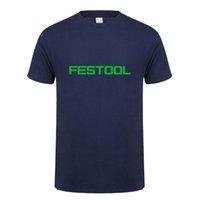 Festool T Shirt Men Toppar Ny Fashion Short Sleeve Festool Tools T-shirt Tees Mans Tshirt LH-053