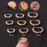 Cartilage Boucles d'oreilles or pour femme / Rose Or / Argent Rond Couleur Cercle Boucles d'oreille os Nez Piercing Anneau Bijoux Arêtes Mujer