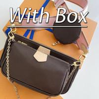 Avec boîte de luxe de luxe de luxe classique femme sac print lettre chaîne sac voiture véritable porte-cartes porte-monnaie bandoulière bandoulière messagerie