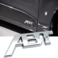 1 قطعة الأسود اللامع ABT ملصق شعار أفضل نوعية ABS بلاستيك للسيارات سيارة الجسم الجانبية الجذع غطاء شارات شارة كروم فضي