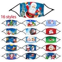 Noel Geyik Baskılı Noel yetişkin Yüz Maskeleri Anti Toz kar tanesi Noel yüz Kapak Yıkanabilir Tekrar Kullanılabilir ile parti maskeleri GWE1687 Filtreler