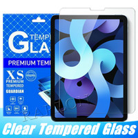 9H 태블릿 강화 유리 클리어 스크린 프로텍터 필름 iPad 8 7 10.2inch 공기 4 10.9 인치 프로 9.7 11 12.9 미니 6 5 3 2 종이 소매 패키지가있는