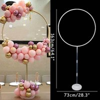 Воздушные шары рамка 163x73 см Окружность Balloon Arch Stand Holder Kit Свадебные украшения Ба гагара Birthday Party Baby Shower Ballon Decor