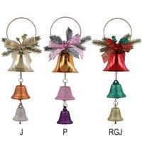 La Navidad Bell colgante creativo del arte del regalo de Navidad del reloj de los colgantes de hierro campanas de Navidad Decoración para el árbol Del Partido