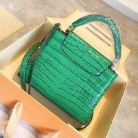 Crocodile Schulterbeutel Frauen echte Leder-Handtaschen Top-Griff diagonale Taschen Capucines Taurillon Tragetaschen 2020 neue sttyles Mode sac