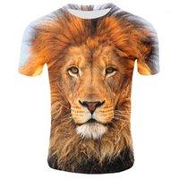Top Tees Men T Shirt Plus Size Hot Sale Summer Mens T Shirt O Neck Short Sleeve Clothing Animal Lion 3D Printed T Shirt Large Size