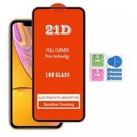 21D 전체 커버 강화 유리 화면 보호기 아이폰 12 SE 2020 IPHONE12 최대 XR XS 6 7 8 LG K31 K51 K61 STYLO 6 K50S K41S-4