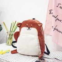 뜨거운 판매 여성 배낭 책가방 캔버스 귀여운 여우 가방 여성 빈티지 노트북 배낭 여자 학교 오렌지 레드