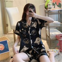 Couples Lovers Pajamas Sets Women Short- Sleeved Summer Pyjam...