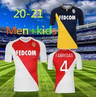 20 21 Como Mônaco Homens + Kids Soccer Jerseys Ben Yeder 9 Martins 11 Golovin 17 Balde 14 Tchouamni 24 Lecomte 40 Home 2020 Jersey Chile Camiseta