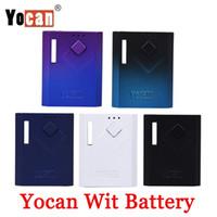 100 % 원래 Yocan Wit Mod 예열 VV 조정 가능한 전압 500mAh Vape 배터리 박스 Mods 마젠타틱 어댑터 적합 510 카트리지 카트 정통