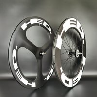 HED 700C 탄소 휠 전면 트라이 스포크 리어 88mm 휠 트랙 /로드 자전거 휠 렌지 / 투 투 사이클로저 카본 휠 UD 매트 마감
