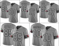 "São Francisco ""49ers"" homens # 10 Jimmy Garoppolo 16 Joe Montana 80 Jerry Rice 85 Kittle 97 Nick Bosa Gridiron II Mulheres Jersey"