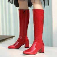 Hot Sale- Fashion Knee High Boots Women Shoes Autumn Winter ...