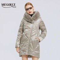MIEGOFCE 2020 зима новый женский Хлопок пальто с меховым воротником Стильный Rex Длинная зимняя куртка Женщины ветровки ветрозащитный куртка