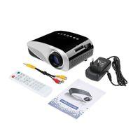 Zoom elektryczny Przenośny kina domowy Wideo Multimedia Pico Micro LCD Handy LED Mini Projektor HDMI USB AV VGA TV Tuner Tripod Cute Głośnik