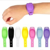 실리콘 팔찌 리필 액체 비누 팔찌 팔찌 손 소독제 디스펜서 손목 시계 착용 할 수있는 소독제 디스펜서 젤 LSK1189